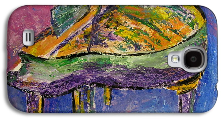 Impressionist Galaxy S4 Case featuring the painting Piano Purple by Anita Burgermeister