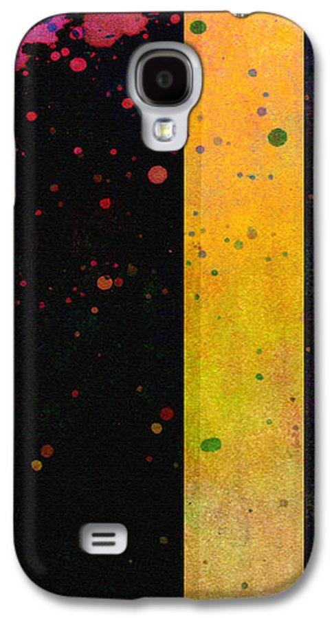 Abstract Galaxy S4 Case featuring the painting Pink Color Splach Abstract Art by Ann Powell