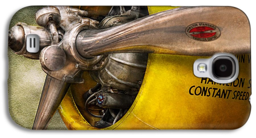 Airplane Galaxy S4 Case featuring the photograph Plane - Pilot - Prop - Twin Wasp by Mike Savad