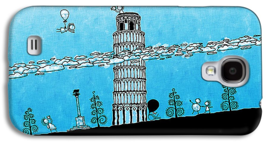 Italy Galaxy S4 Case featuring the photograph Playful Tower Of Pisa by Gianfranco Weiss