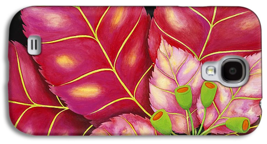 Acrylic Galaxy S4 Case featuring the painting Poinsettia by Carol Sabo