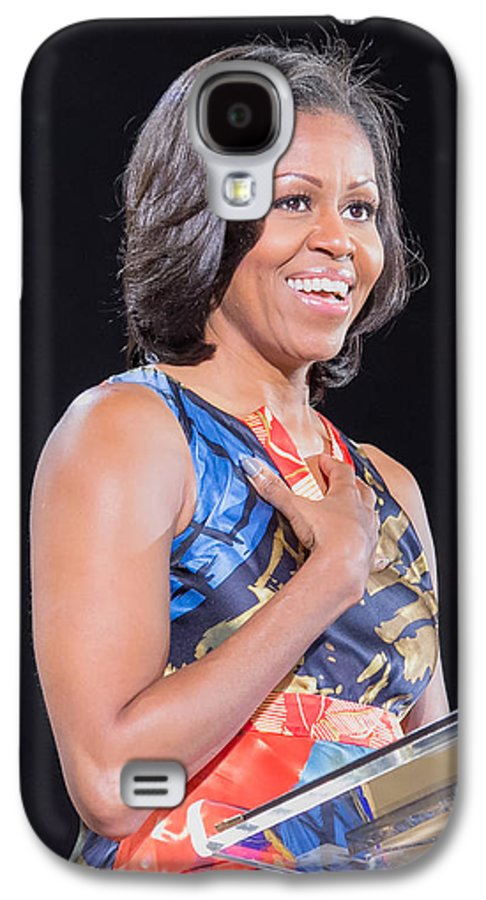 Michelle Obama Galaxy S4 Case featuring the photograph Political Ralley by Ava Reaves