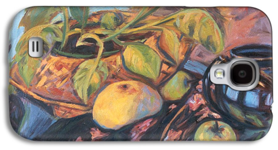 Still Life Galaxy S4 Case featuring the painting Pollys Plant by Kendall Kessler