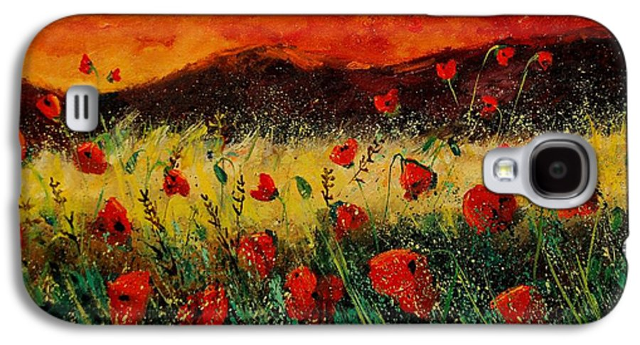 Poppies Galaxy S4 Case featuring the painting Poppies 68 by Pol Ledent