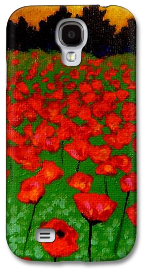 Poppy Galaxy S4 Case featuring the painting Poppy Carpet by John Nolan