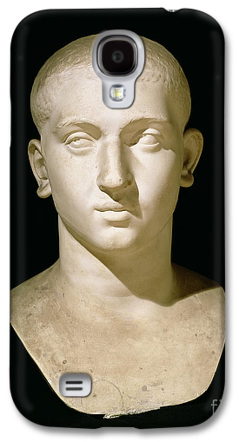 Male Galaxy S4 Case featuring the sculpture Portrait Bust Of Emperor Severus Alexander by Anonymous
