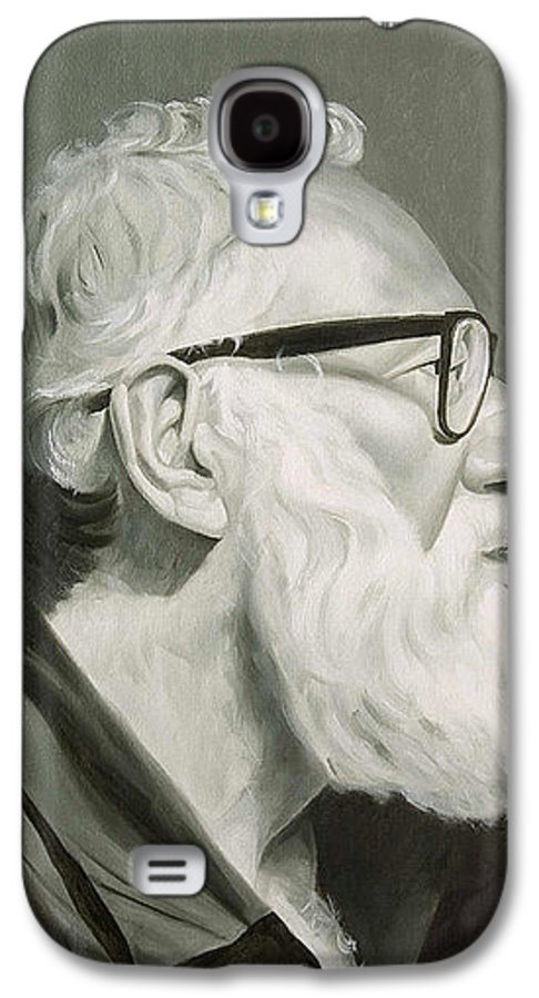 Portrait Galaxy S4 Case featuring the painting Portrait In Grisaille by Gary Hernandez