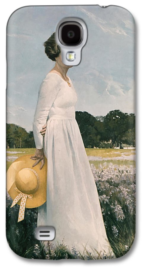 Portrait Galaxy S4 Case featuring the painting Portrait Of Mrs Lyndon B Johnson by Mountain Dreams