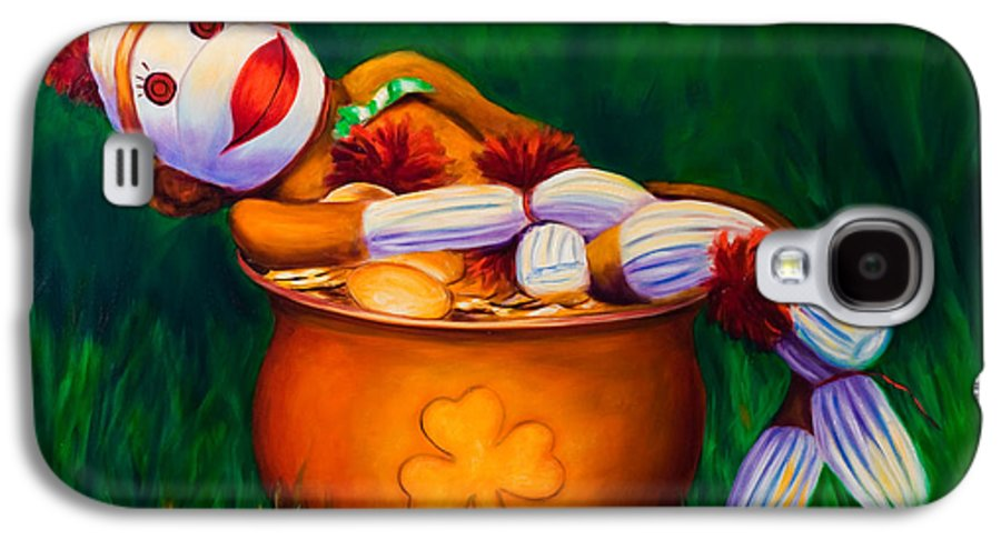 St. Patrick's Day Galaxy S4 Case featuring the painting Pot O Gold by Shannon Grissom
