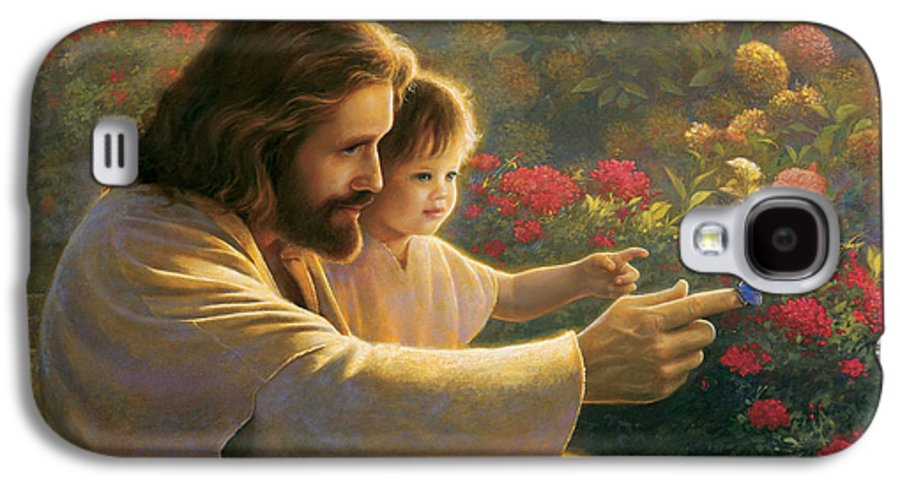 Jesus Galaxy S4 Case featuring the painting Precious In His Sight by Greg Olsen