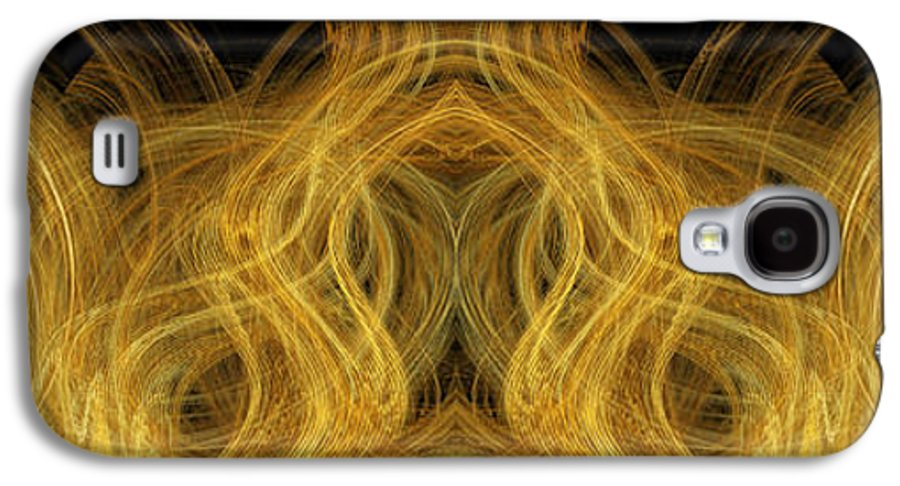 Abstract Galaxy S4 Case featuring the digital art Precious Metal Frog Prince Panorama by Andee Design