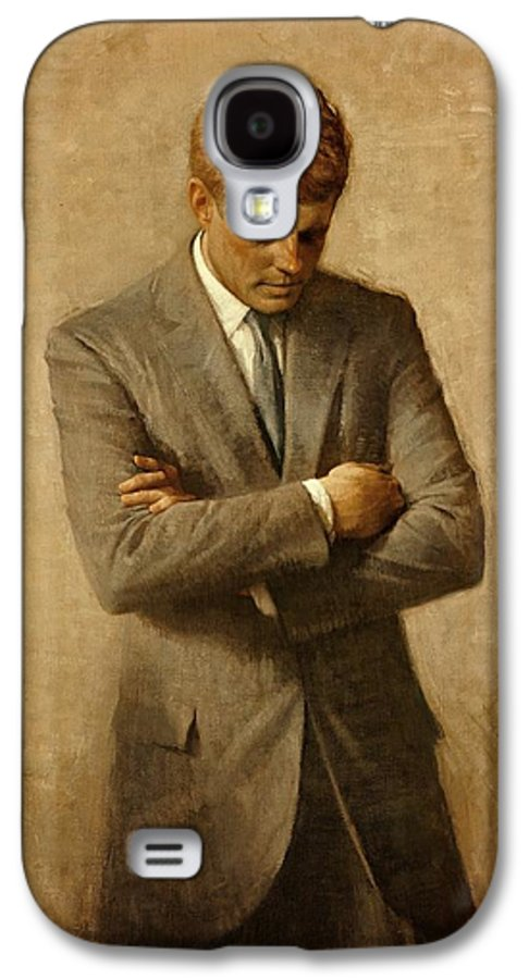 Kennedy Galaxy S4 Case featuring the painting President John F. Kennedy Official Portrait By Aaron Shikler by Movie Poster Prints