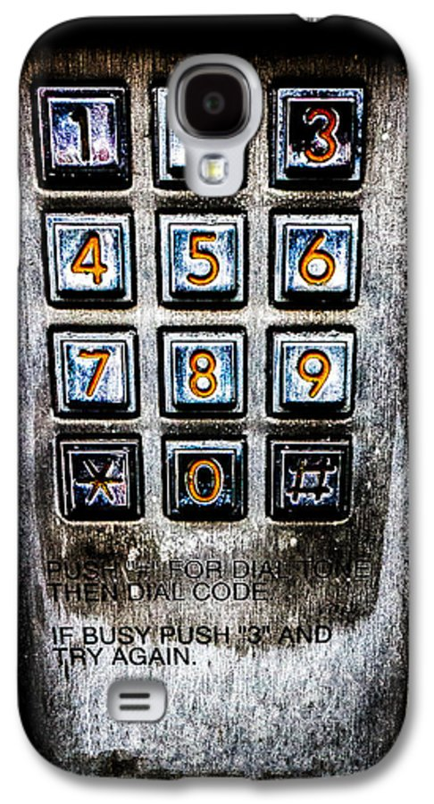 Keypad Galaxy S4 Case featuring the photograph Press Three And Try Again by Bob Orsillo