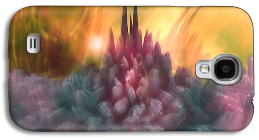 Abstract Galaxy S4 Case featuring the digital art Psychedelic Tendencies  by Linda Sannuti