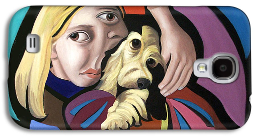 Puppy Love Framed Prints Galaxy S4 Case featuring the painting Puppy Love by Anthony Falbo