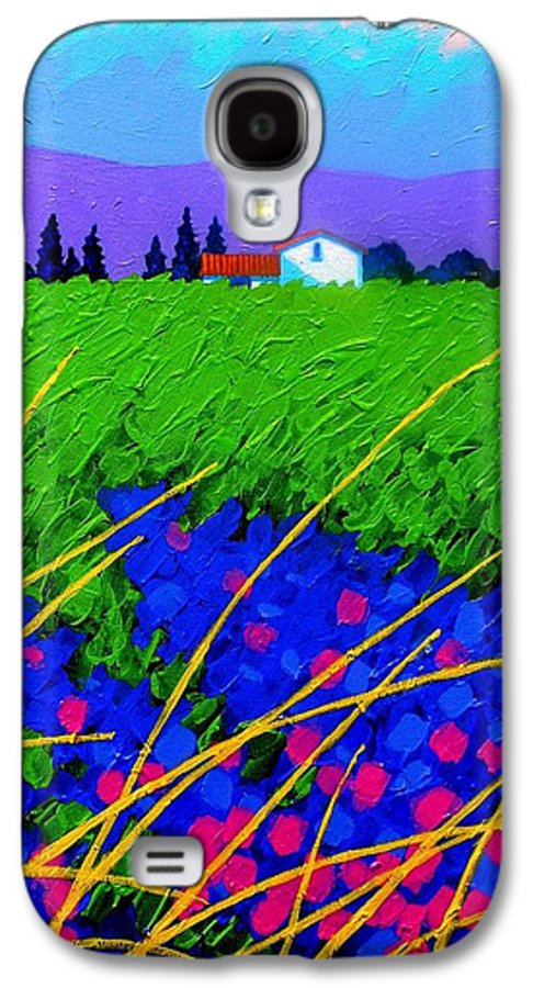 Cottage Galaxy S4 Case featuring the painting Purple Hills by John Nolan