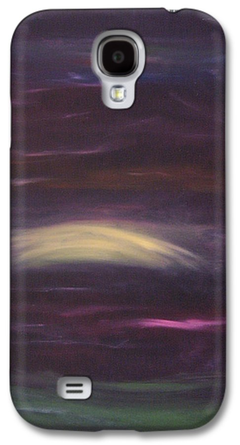 Purple Galaxy S4 Case featuring the painting Purple Night by Lindsay Clark