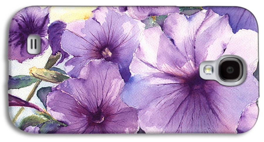 Purple Galaxy S4 Case featuring the painting Purple Profusion by Patricia Henderson