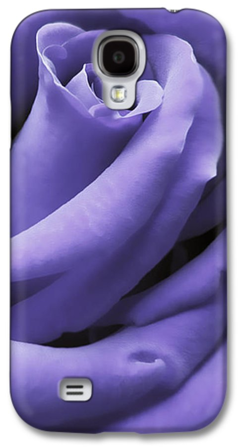 Rose Galaxy S4 Case featuring the photograph Purple Velvet Rose Flower by Jennie Marie Schell