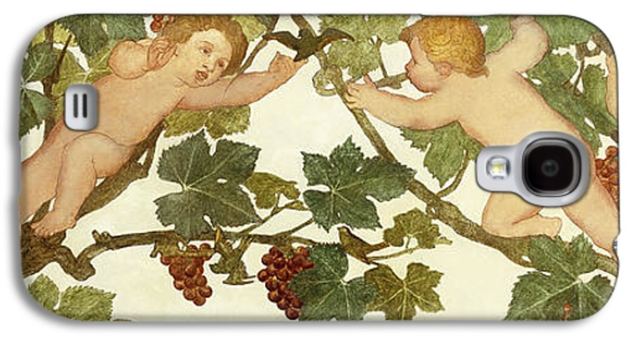 Irish Galaxy S4 Case featuring the painting Putti Frolicking In A Vineyard by Phoebe Anna Traquair