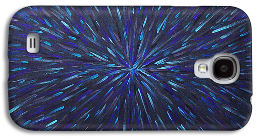 Abstract Galaxy S4 Case featuring the painting Radiation Grey by Dean Triolo
