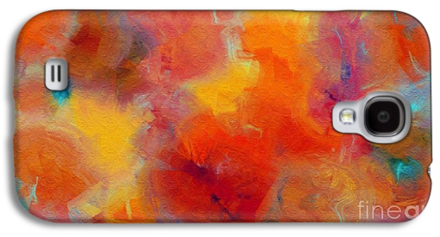 Abstract Galaxy S4 Case featuring the digital art Rainbow Passion - Abstract - Digital Painting by Andee Design