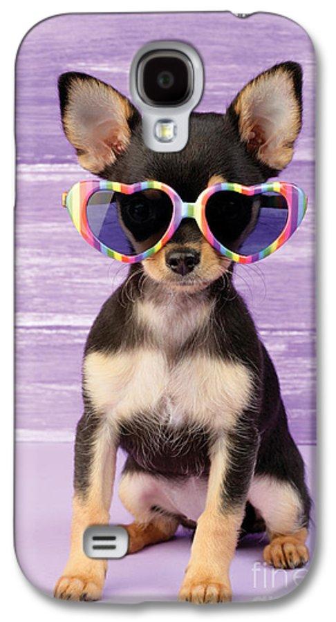 Sunglasses Galaxy S4 Case featuring the digital art Rainbow Sunglasses by Greg Cuddiford