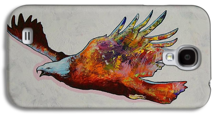 Wildlife Galaxy S4 Case featuring the painting Rainbow Warrior Flying Eagle by Joe Triano