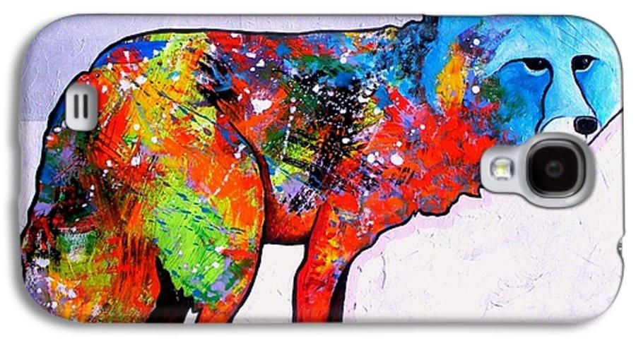 Animal Galaxy S4 Case featuring the painting Rainbow Warrior - Fox by Joe Triano