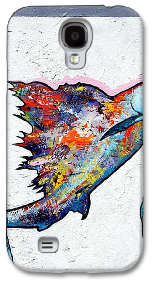 Wildlife Galaxy S4 Case featuring the painting Rainbow Warrior - Sailfish by Joe Triano