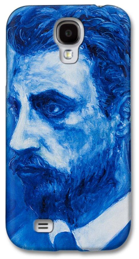 Sviatoslav Galaxy S4 Case featuring the painting Rainer Maria Rilke by Sviatoslav Alexakhin
