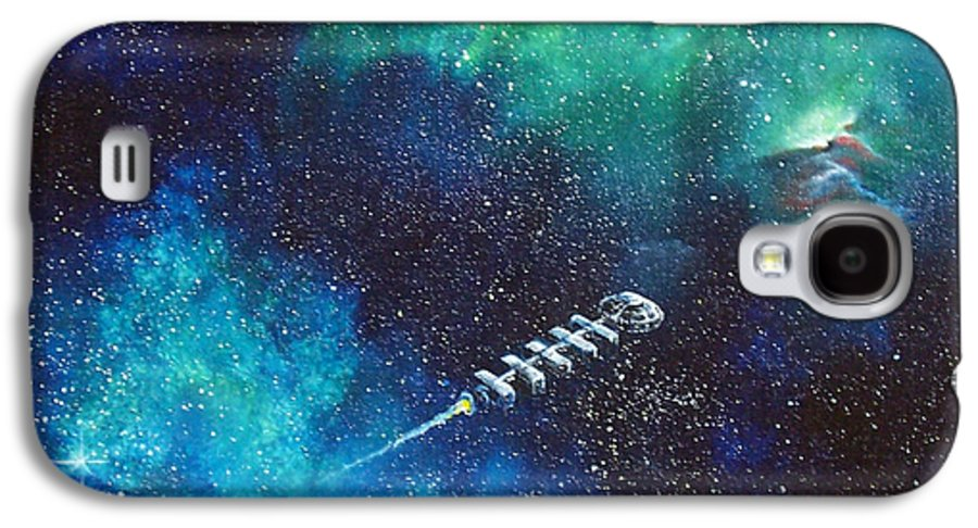 Spacescape Galaxy S4 Case featuring the painting Reaching Out by Murphy Elliott