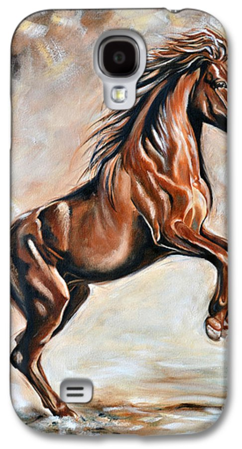 Horse Galaxy S4 Case featuring the painting Red Beauty by Ilse Kleyn