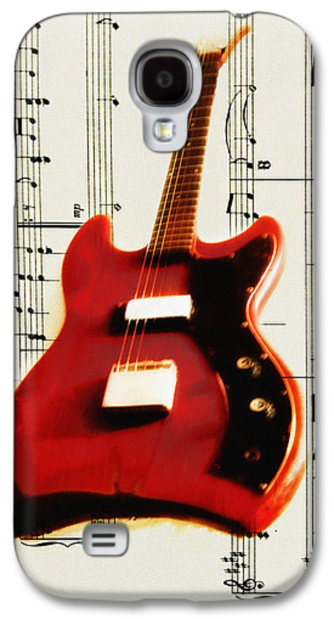 Red Galaxy S4 Case featuring the photograph Red Guitar by Bill Cannon
