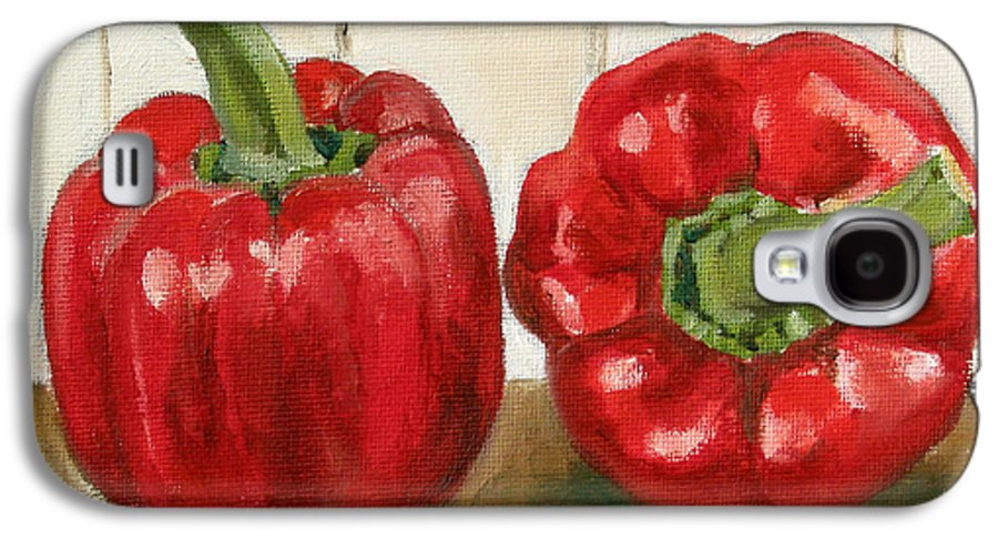 Food Galaxy S4 Case featuring the painting Red Pepper by Sarah Lynch