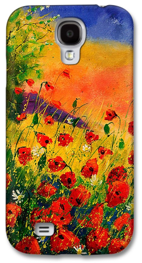 Poppies Galaxy S4 Case featuring the painting Red Poppies 45 by Pol Ledent