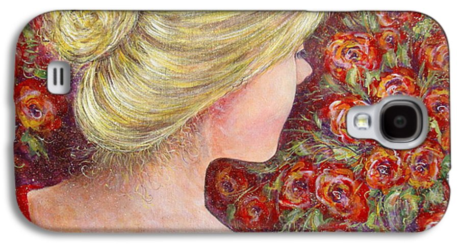 Female Galaxy S4 Case featuring the painting Red Scented Roses by Natalie Holland