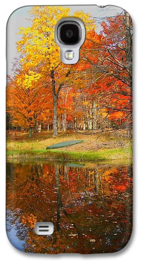 Fall Galaxy S4 Case featuring the photograph Reflections Of Autumn by Judy Waller