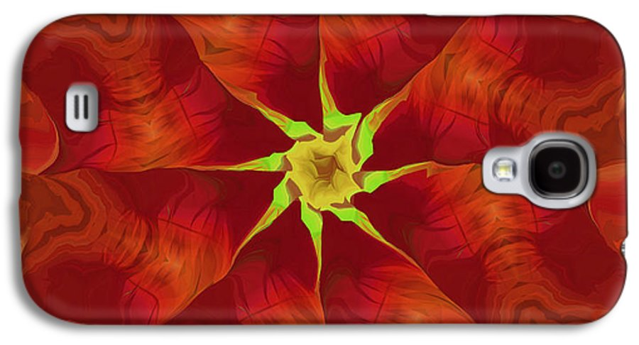 Abstract Galaxy S4 Case featuring the digital art Release Of The Heart by Deborah Benoit