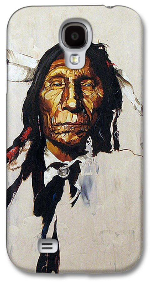 Southwest Art Galaxy S4 Case featuring the painting Remember by J W Baker