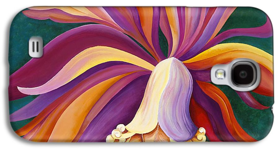 Orchid Galaxy S4 Case featuring the painting Ribbon Orchid by Carol Sabo