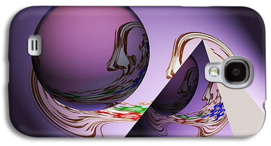 Abstract Geometrical Art Galaxy S4 Case featuring the painting River Of Life by Georgeta Blanaru