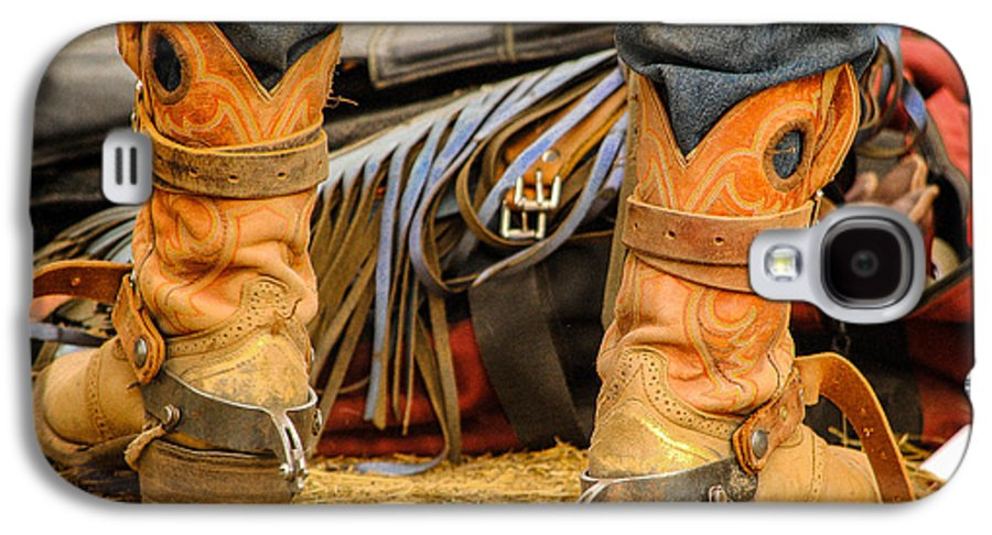 Boot Galaxy S4 Case featuring the photograph Rodeo Cowboy Tools Of The Trade by Miki Finn