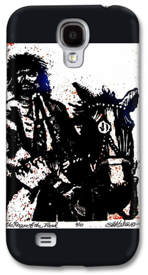 English Highwayman Galaxy S4 Case featuring the mixed media Rogue Of The Road by Seth Weaver