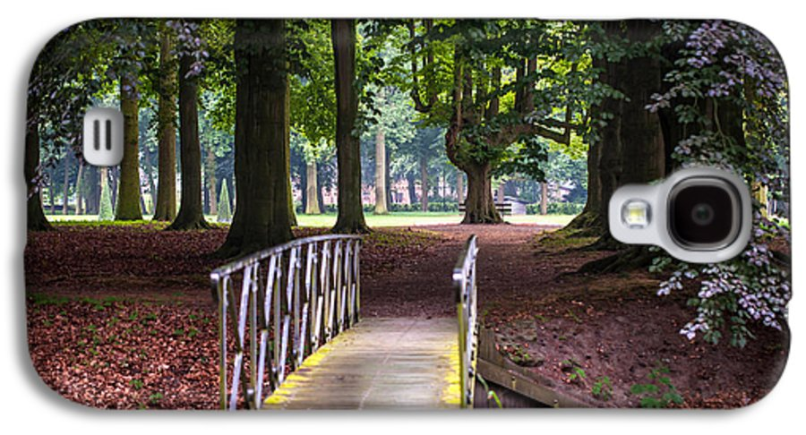 Utrecht Galaxy S4 Case featuring the photograph Romantic Bridge To Shadow Place. De Haar Castle by Jenny Rainbow