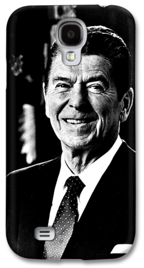 Ronald Galaxy S4 Case featuring the photograph Ronald Reagan by Benjamin Yeager