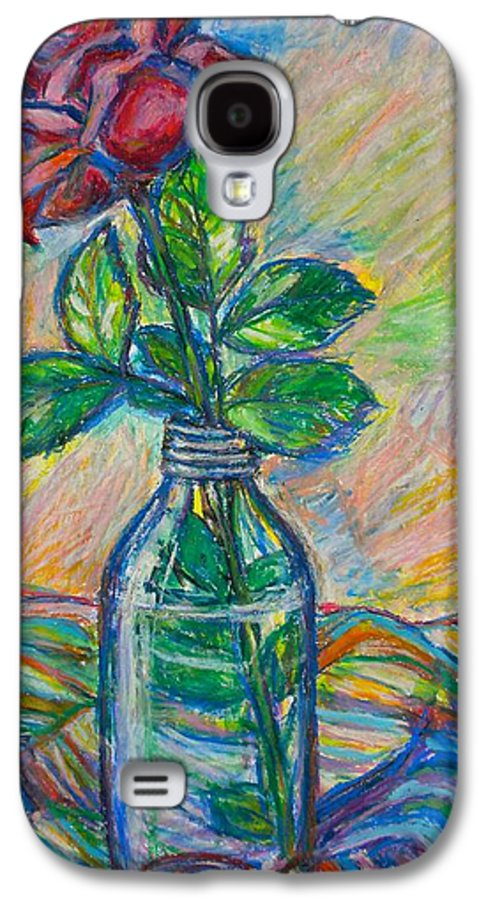 Still Life Galaxy S4 Case featuring the painting Rose In A Bottle by Kendall Kessler