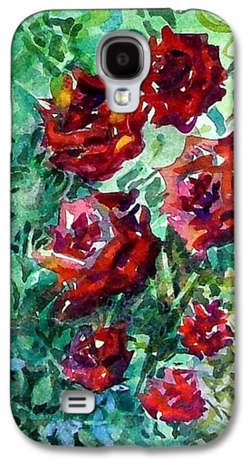 Rose Galaxy S4 Case featuring the painting Roses by Mindy Newman