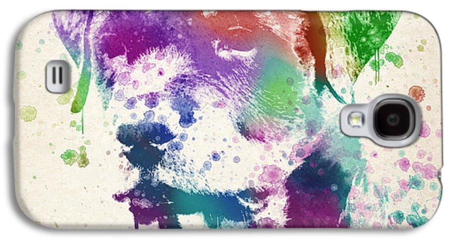 Rottweiler Galaxy S4 Case featuring the digital art Rottweiler Splash by Aged Pixel