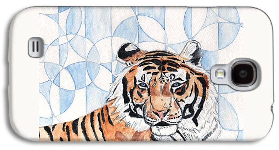 Tiger Galaxy S4 Case featuring the painting Royal Mysticism by Crystal Hubbard